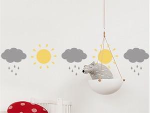 Autocolante Faixa Sol e Nuvens