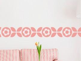 autocolante vinil faixa deco flores friso