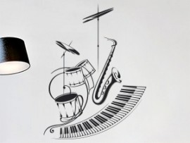 Autocolante Orquestra Jazz