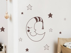 Autocolante Lua e Estrellas
