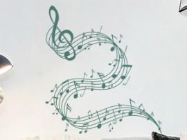 Autocolante Pauta Musica Design 2