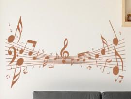 Autocolante Pauta Musica Loucara