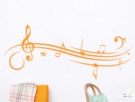 Autocolante Pauta Musica Design 3