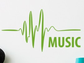 Autocolante Musica Electro