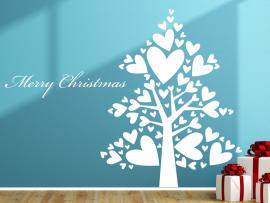 Autocolante Árvore de Natal Corações