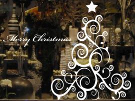 Autocolante Árvore de Natal Barroco 2