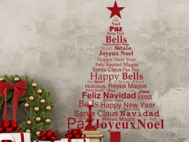 Autocolante Árvore de Natal Texto