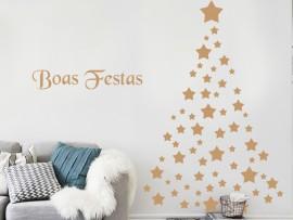 Autocolante Árvore de Natal Estrelas 2