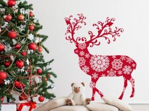 Autocolante Rena de Natal Design