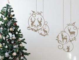 Autocolantes Bolas de Natal Decorativas