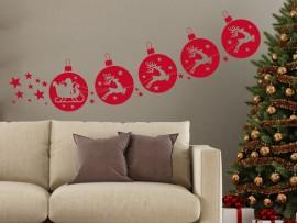 Autocolante Trenó de Natal Decorativo