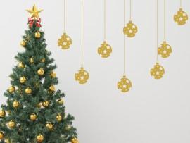 Autocolante Pack 8 Bolas Estrelas de Natal