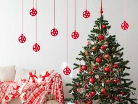Autocolante Pack 8 Bolas Árvores de Natal