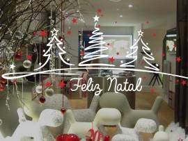Autocolante Conjunto Árvores de Natal