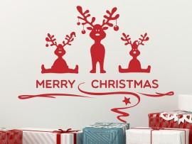 Autocolante Conjunto Renós de Natal