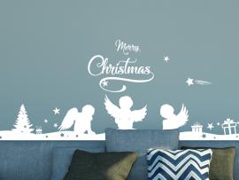 Autocolante Faixa Anjos de Natal