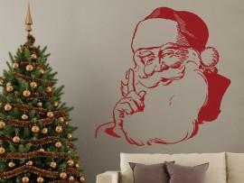 Autocolante Pai Natal Vintage