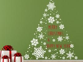 Autocolante Árvore de Natal Flocos Vintage