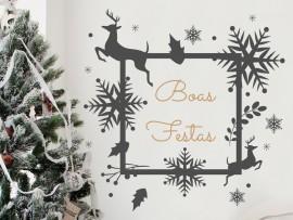 Autocolante Quadro de Natal Decorativo