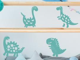 Autocolante Pack 4 Dinossauros