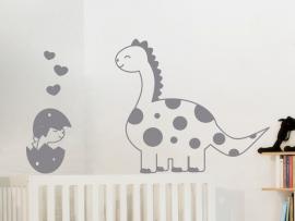 Autocolante Dinossauro e Bebé