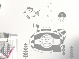 Autocolante Urso Submarino