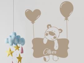 Autocolante Urso Balão