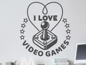 Autocolante I love Video Games