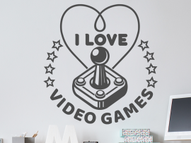 Autocolante I love Video Games