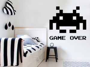 Autocolante Space Invaders Pixel