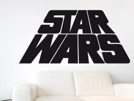 Autocolante Star Wars text