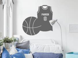 Autocolante Camisola de Basket Ball