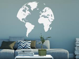 Autocolante Mapa do Mundo Globo Terrestre