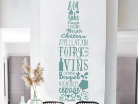 Autocolante Garafa de Vinho Text