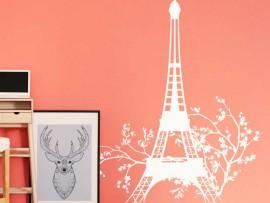 Autocolante Torre Eiffel Floral