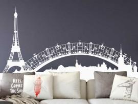 Autocolante Paisagem Paris Torre Eiffel