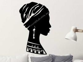 Autocolante Busto Africano Mulher