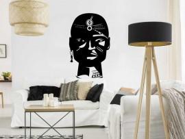 Autocolante Busto Africano Homen