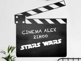 Autocolante Ardósia Clap Cinema