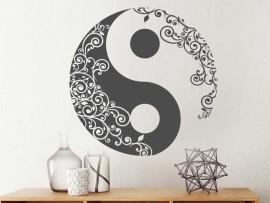 Autocolante Yin-yang Floral
