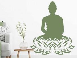 Autocolante Buda Lotus