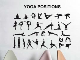 Autocolante Yoga Posições