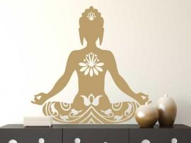 Autocolante Buda Lotus 2