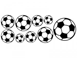 Autocolante Kit 9 Bolas de Futebol Preto