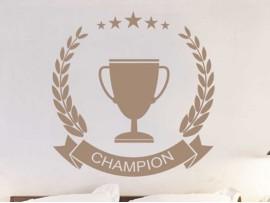 Autocolante Troféu de Futebol