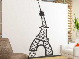 Autocolante Futebol Torre Eiffel