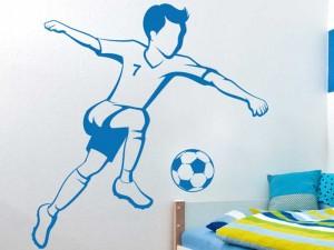 Autocolante Jogador de Futebol Infantil 2