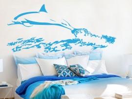 autocolante vinil golfinho mar