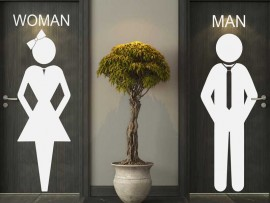 Autocolante WC Women & Man