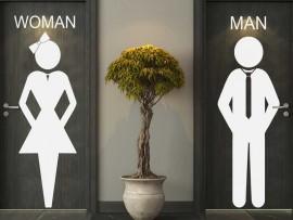 Autocolante WC Women & Man